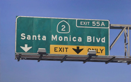 view Santa Monica Blvd Exit Only