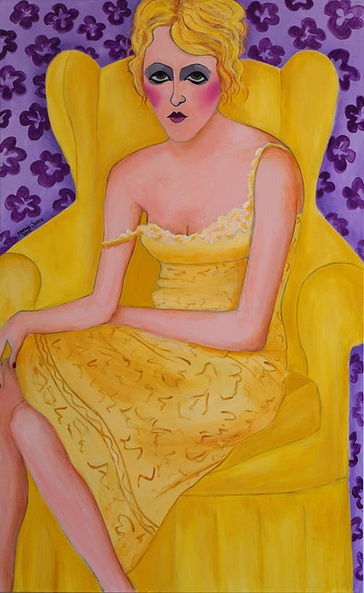 view Woman on Yellow Chair