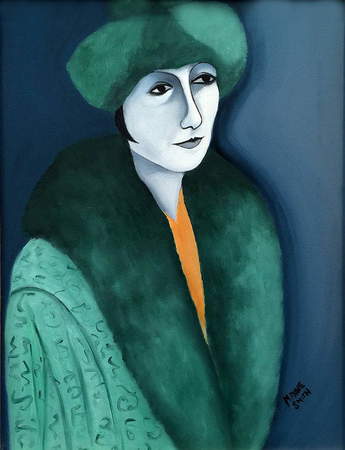 view Woman in Fur Hat