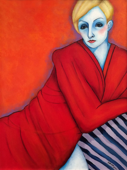 view Woman in Red Robe