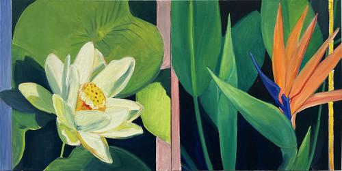 view Lotus and Bird