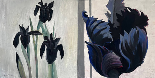 view Black Flowers