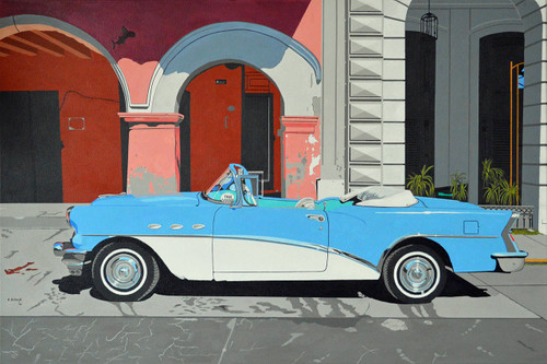 view Blue Car in Havana