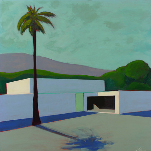 view Post Modern House with Palm Tree