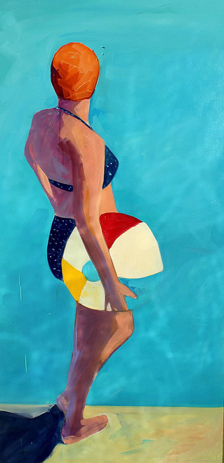 view Swimmer and Beach Ball