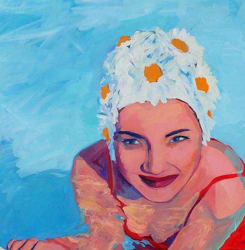 view Daisy Swim Cap