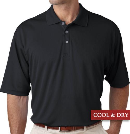 Big & Tall Men's UltraClub Cool-n-Dry Polo Black, Full Image