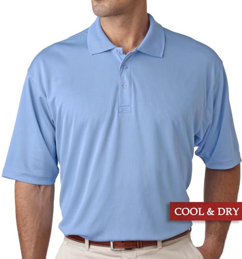 Big & Tall Men's UltraClub Cool-n-Dry Polo Light Blue, Full Image