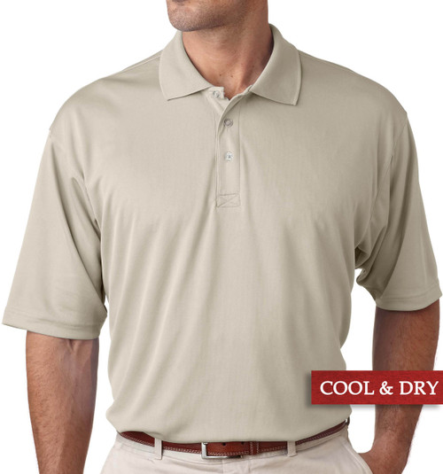 Big & Tall Men's UltraClub Cool-n-Dry Polo Light Khaki, Full Image