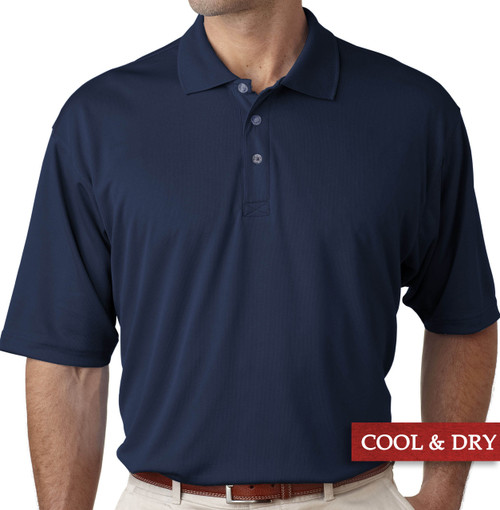 Big & Tall Men's UltraClub Cool-n-Dry Polo Navy Blue, Full Image
