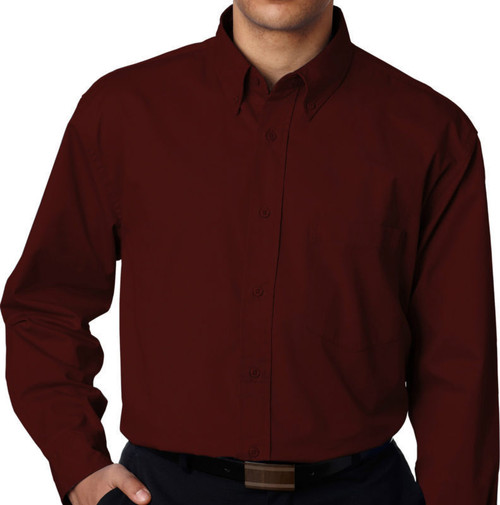 big and tall dress shirts Burgundy 3X