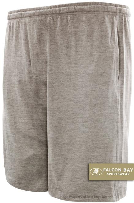 Gray Falcon Bay Cotton Jersey Shorts