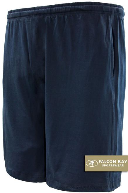 Navy Falcon Bay Cotton Jersey Shorts