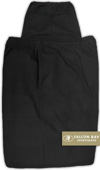 Falcon Bay BLACK Jersey Pants Lightweight 2XL - 10XL #1169