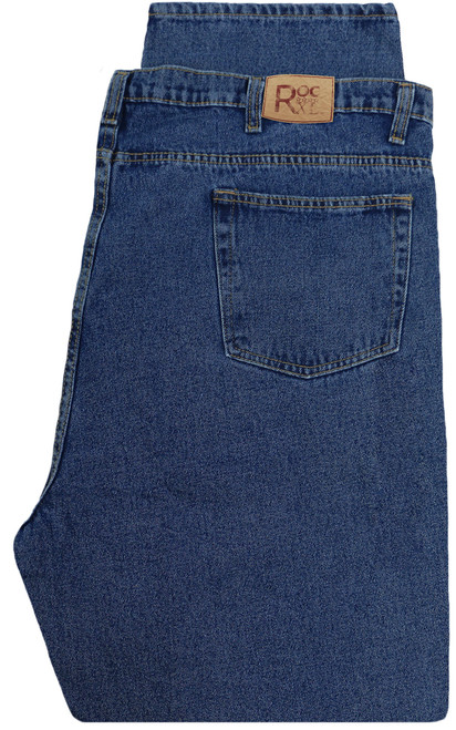 ROCXL Denim Jeans Fixed Waist MEDIUM BLUE