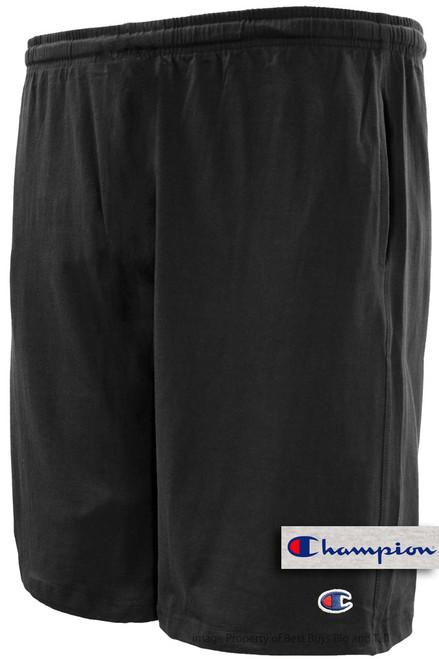 Black Champion Lightweight Cotton Jersey SHORTS