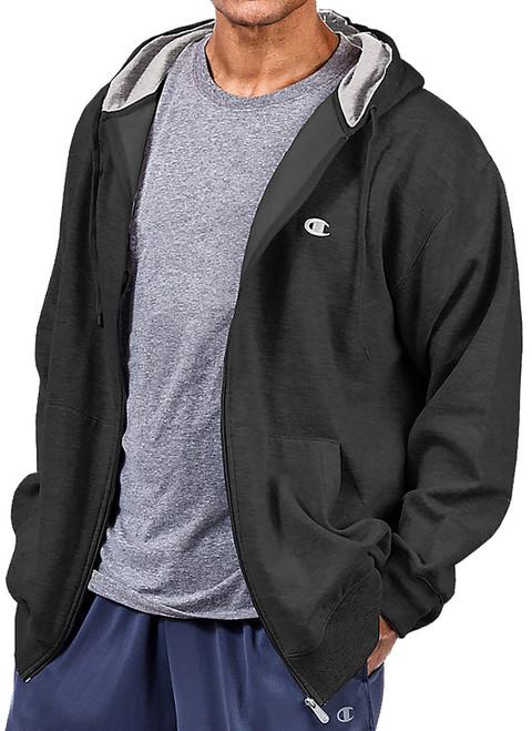 Big Men's Champion Full Zip Fleece Hoodie BLACK 3XL - 6XL 2XLT - 4XLT