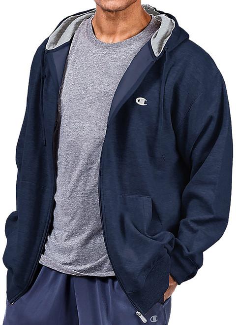 Big Men's Champion Full Zip Fleece Hoodie NAVY 3XL - 6XL 2XLT - 4XLT