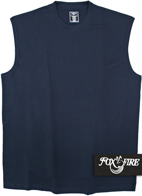 big and tall navy muscle t-shirt by foxfire