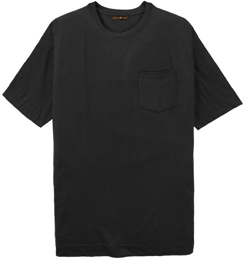 big men clothing Black Pocket T-Shirt 4X