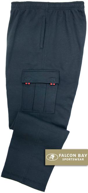 Navy Falcon Bay Big Men's Fleece Cargo Pants