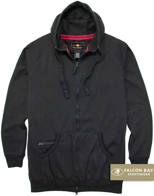 Black Falcon Bay Full Zip Fleece Hoodie