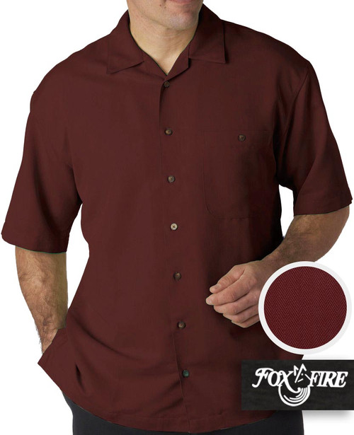 mens xl clothing Burgundy Cabana Shirt 6X