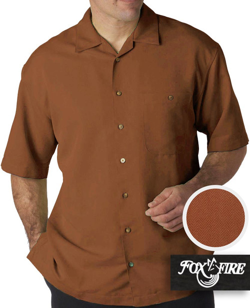 mens xl clothing Brown Cabana Shirt 3X
