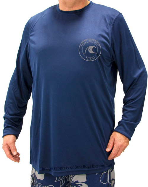 Navy H2O Sport Tech Long Sleeve Swim Shirt