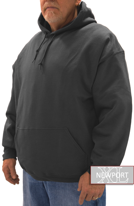 big tall man black pullover hoodie