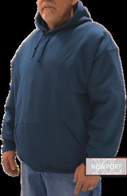 navy big tall pullover hooded sweatshirt