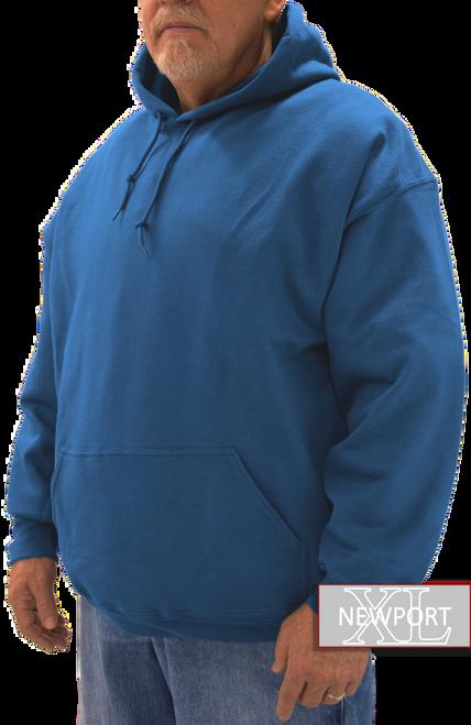soft fleece royal blue hooded pullover