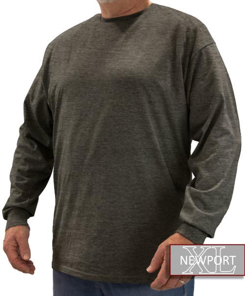 Heather Charcoal NewportXL LONG SLEEVE T-Shirt