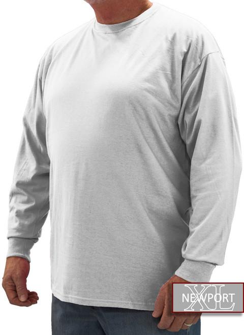 White NewportXL LONG SLEEVE T-Shirt
