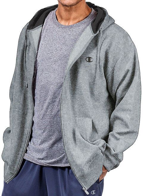 Gray Zip Hoodie by Champion Big & Tall