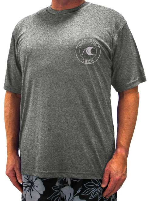 Short Sleeve Swim Shirt DARK HEATHER GRAY