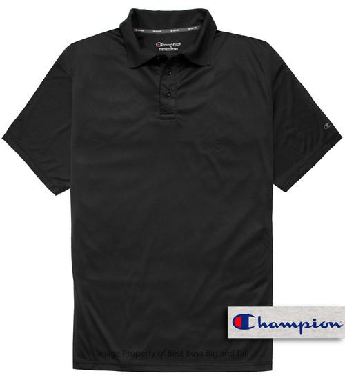 Black Champion Performance Polo Shirt