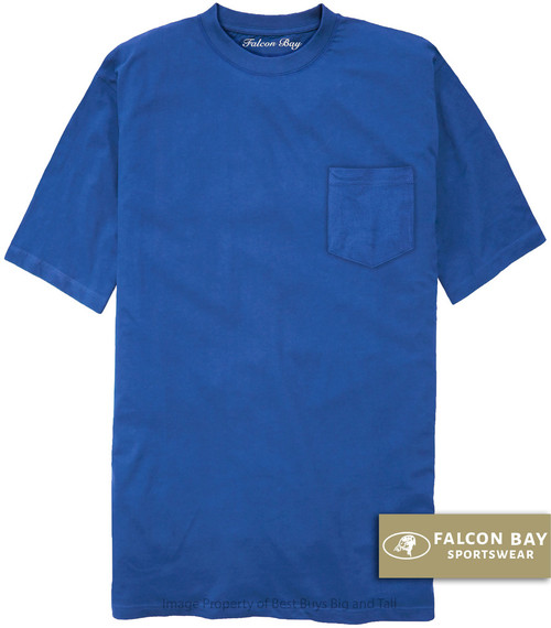Royal Blue Falcon Bay 100% Cotton Pocket T-Shirt