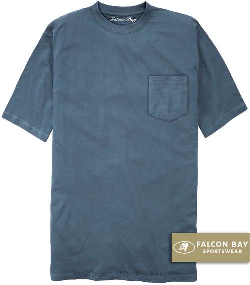Medium Blue Falcon Bay 100% Cotton Pocket T-Shirt