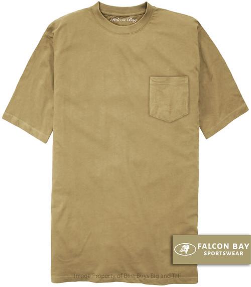 Khaki Beige Falcon Bay 100% Cotton Pocket T-Shirt