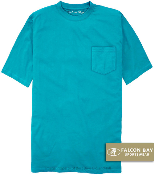 Aqua Falcon Bay 100% Cotton Pocket T-Shirt