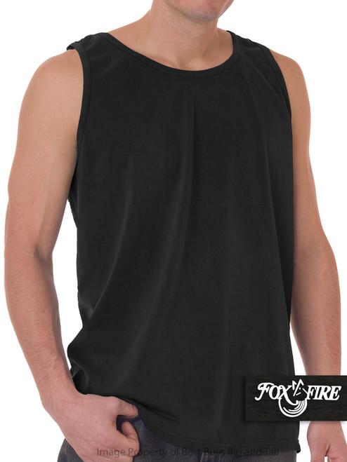 Black Foxfire Loose Fit Tank Top