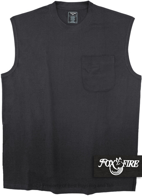 Black Foxfire POCKET Muscle Tee