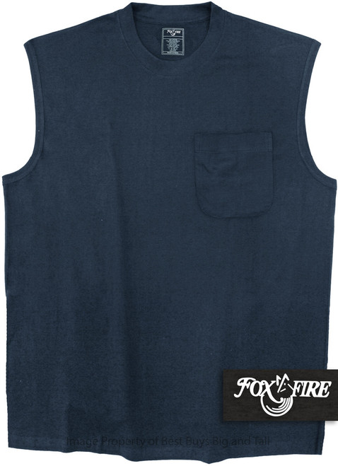 Navy Blue Foxfire POCKET Muscle Tee