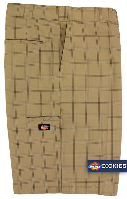 Khaki Dickies Casual Plaid Shorts