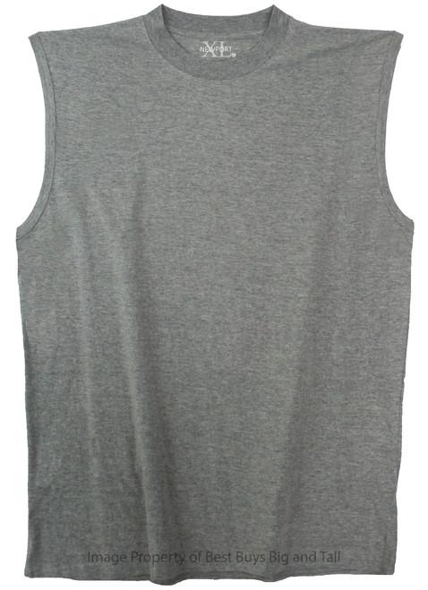 NewportXL 100% Cotton  Heather Gray Muscle Tee