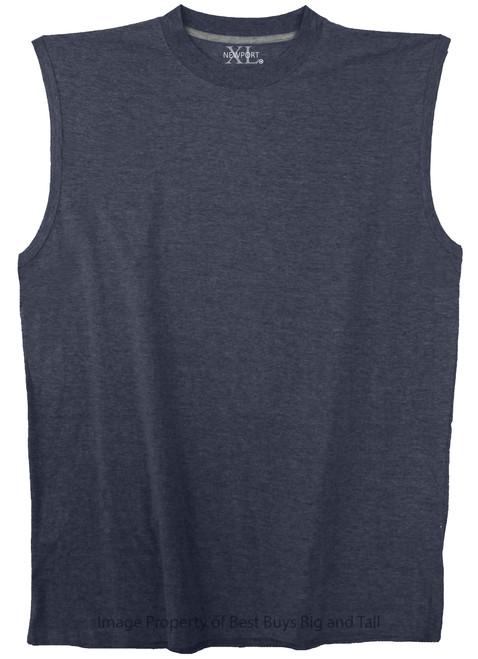 NewportXL 100% Cotton Muscle Tee 3XL-7XL 2XLT-5XLT HEATHER NAVY #469C