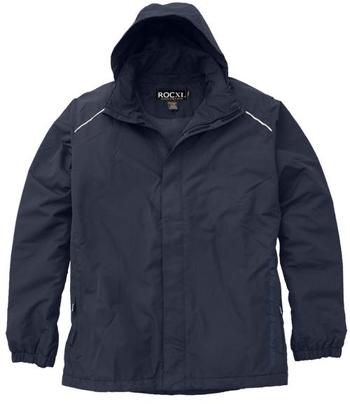 ROCXL Fleece-Lined Navy Hooded Zip Jacket