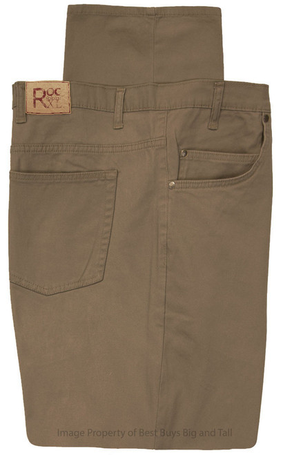 ROCXL 5-Pocket Twill Pants KHAKI BROWN
