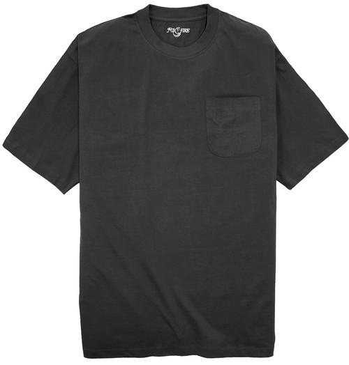 Foxfire BLACK Pocket T-Shirt 100% Cotton